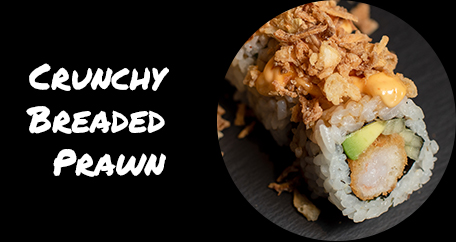 Sushi Fusion Brighton. Japanese cuisine. Sushi fusion rolls and hot dishes. crunchy breaded prawn
