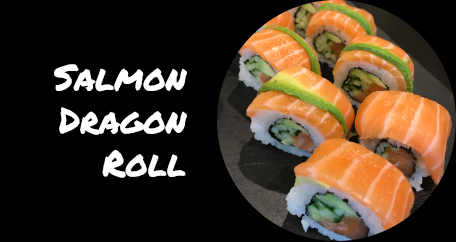Sushi Fusion Brighton. Japanese cuisine. Special rolls, vegan and desserts. salmon dragon roll